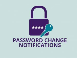 SMS Notification related to account activity like password changes